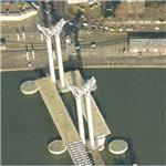 Pont Gustave-Flaubert lift-bridge under construction (Birds Eye)