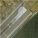 Airport built on a viaduct (Bing Maps)