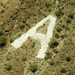 Hillside letter 'A'