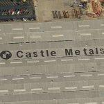 Castle Metals Logo On Roof (Birds Eye)