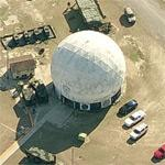 Radar Dome at US Naval Reserve Marine Air Station Beaufort (Birds Eye)