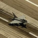 Eurofighter Typhoon landing at Davis-Monthan AFB (Birds Eye)