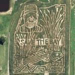 Bowles Farms 'Save The Bay' 2006 Corn Maze (Bing Maps)