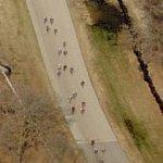 Bicycle race at Blackhawk Farms Raceway (Birds Eye)