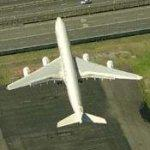Etihad Airways Airbus A340 departing Sydney (Birds Eye)