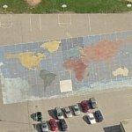 World map on a playground