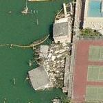 Sinking and smashed houseboats (Birds Eye)