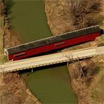 Thorpe Ford Covered Bridge (Birds Eye)