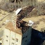 Abandoned AN/FPS-35 Antenna at Montauk Air Force Station (Birds Eye)