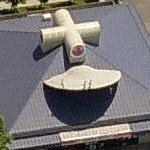 UFO crashed into a gas station
