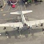 B-17G above former Bomber Gas (Bing Maps)