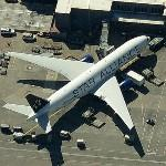 Boeing 767 in Star Alliance livery (United Airlines) (Birds Eye)