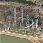 Longest Steel Roller Coaster in the US (Birds Eye)