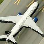 Boeing 777 in Star Alliance livery (United Airlines) (Birds Eye)