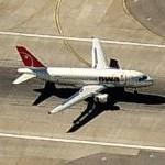 Airbus A319 (Northwest Airlines) (Birds Eye)