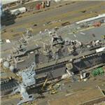 USS Tarawa (LHA-1) in drydock