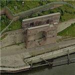 Remains of Monkwearmouth Colliery / Wearmouth Colliery loading docks (Birds Eye)