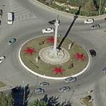 Statue in a roundabout