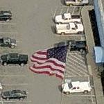 Large American Flag at Ourisman Rockmont Chevrolet