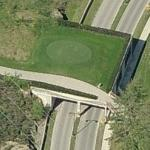 Golf course tee box overpass