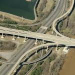 Vietnam Veterans Memorial Bridge - I95 Interchange (Birds Eye)