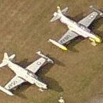 Lockheed T-33A Shooting Star & Lockheed F-94 Starfire (Birds Eye)