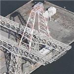 Hunter's Point Crane with rocket test assembly (Birds Eye)