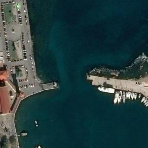 Site of The Colossus of Rhodes (Bing Maps)