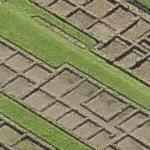 Roman barracks in Caerleon (Bing Maps)