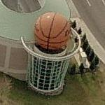 Giant Basketball at the Women's Basketball Hall of Fame (Birds Eye)