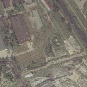 Tank Graveyard in Kharkiv (Bing Maps)