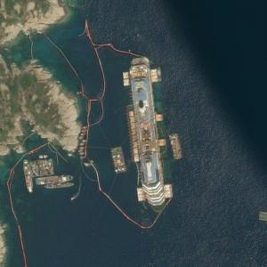 Wreck of the Costa Concordia (Bing Maps)