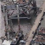Derelict oil platforms (Birds Eye)