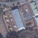 Aircraft exhibition at Old Car Center in Naraha (Bing Maps)
