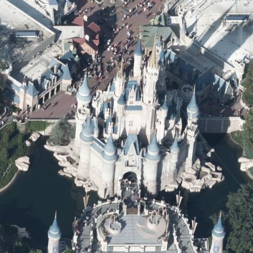 Disney World's Cinderella Castle (Birds Eye)