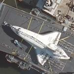 Space Shuttle Enterprise on board USS Intrepid (Bing Maps)