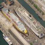 Ferries under construction (Birds Eye)