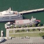Superyacht Mystere Shadow (Bing Maps)