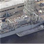 USS Sirus (T-AFS 8) Combat Stores Ship (Birds Eye)
