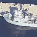 USS Apache (T-ATF-172) Fleet Ocean Tug (Birds Eye)