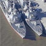 USS Ramage (DDG-61), USS Porter (DDG-78) & USS Donald Cook (DDG-75) Burke Class Destroyers (Birds Eye)