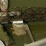 Kinnickinnic River Swing Bridge (Birds Eye)