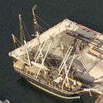 Whaling ship Charles W. Morgan (Birds Eye)