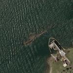 Wreck of the Battleship USS Utah (BB-31) sunk during attack on Pearl Harbor (Bing Maps)