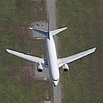 Airplane Approaching LAX (Birds Eye)