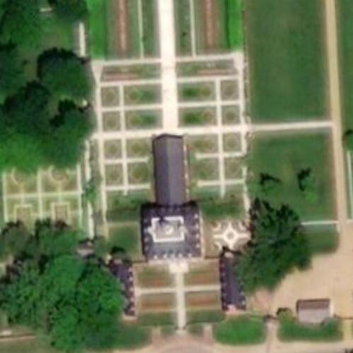 The Governor's Palace at Colonial Williamsburg (Birds Eye)