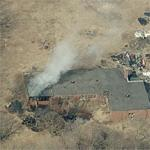 Abandoned school on fire (March 5, 2009) (Birds Eye)