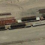 Track sections on rail cars (Birds Eye)