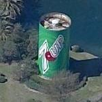 Giant can of 7-Up (Birds Eye)