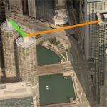 Nik Wallenda's Chicago tight rope stunt (Birds Eye)
